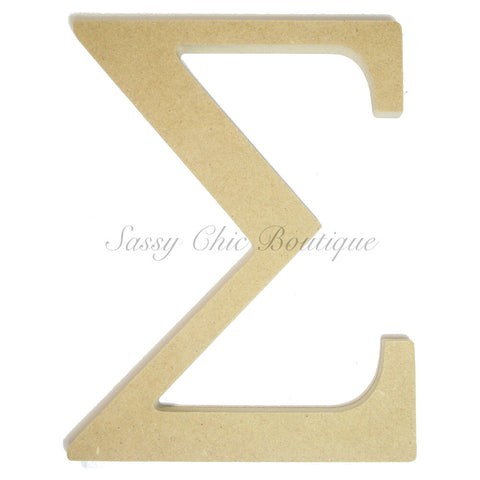 "Unfinished Wooden Greek Letter ""Sigma"""