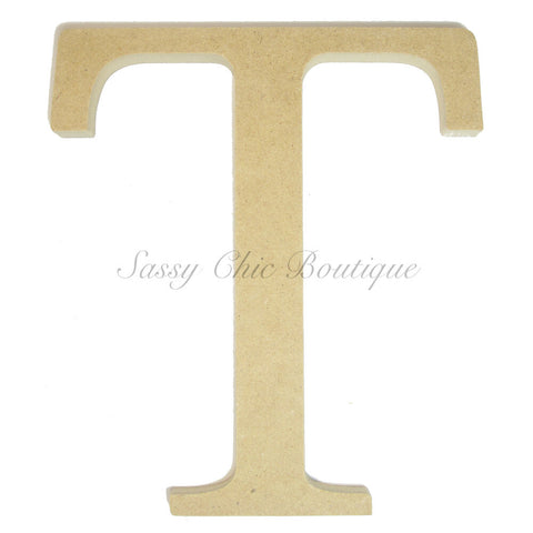 "Unfinished Wooden Greek Letter ""Tau"""