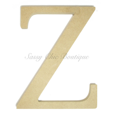 "Unfinished Wooden Greek Letter ""Zeta"""