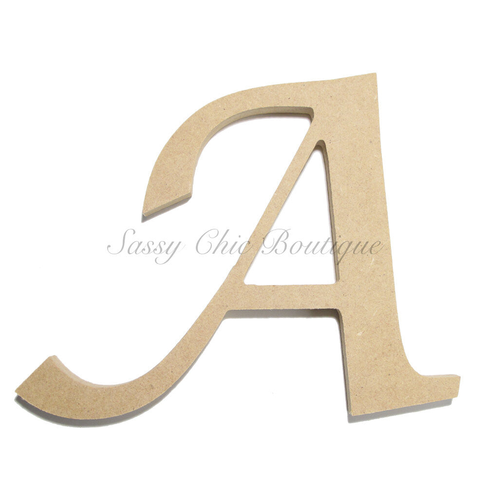 "DIY-Unfinished Wooden Letter - Uppercase ""A"" - Lucida Calligraphy Font-Sassy Chic Boutique"