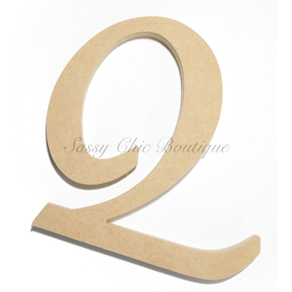 "DIY-Unfinished Wooden Letter - Uppercase ""Q"" - Lucida Calligraphy Font-Sassy Chic Boutique"