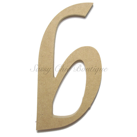 "Unfinished Wooden Letter - Lowercase ""b""- Lucida Calligraphy Font"