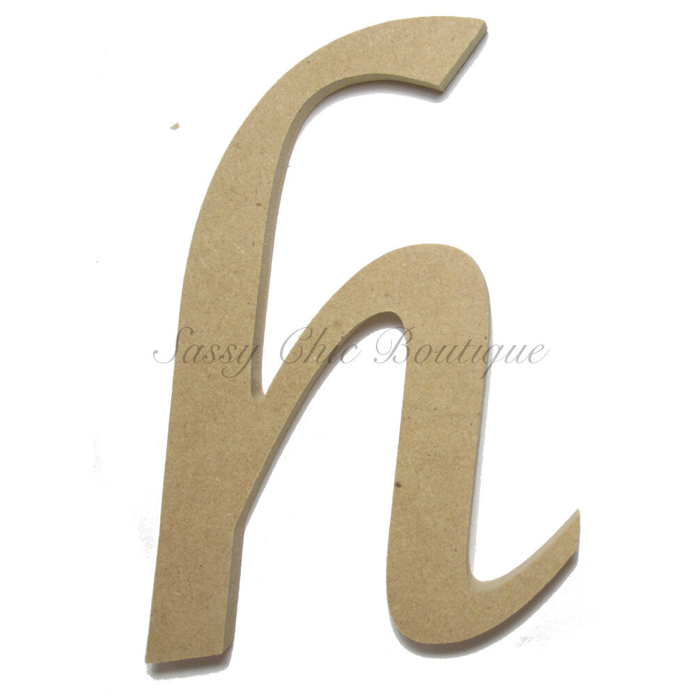 "DIY-Unfinished Wooden Letter - Lowercase ""h""- Lucida Calligraphy Font-Sassy Chic Boutique"
