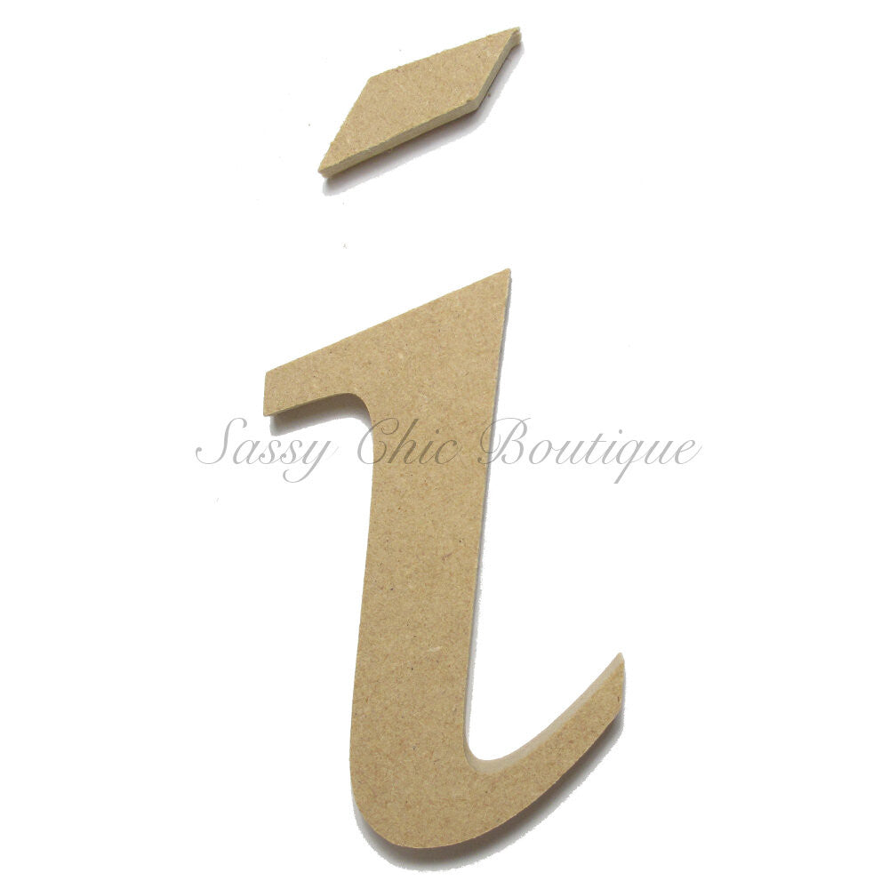 "DIY-Unfinished Wooden Letter - Lowercase ""i""- Lucida Calligraphy Font-Sassy Chic Boutique"