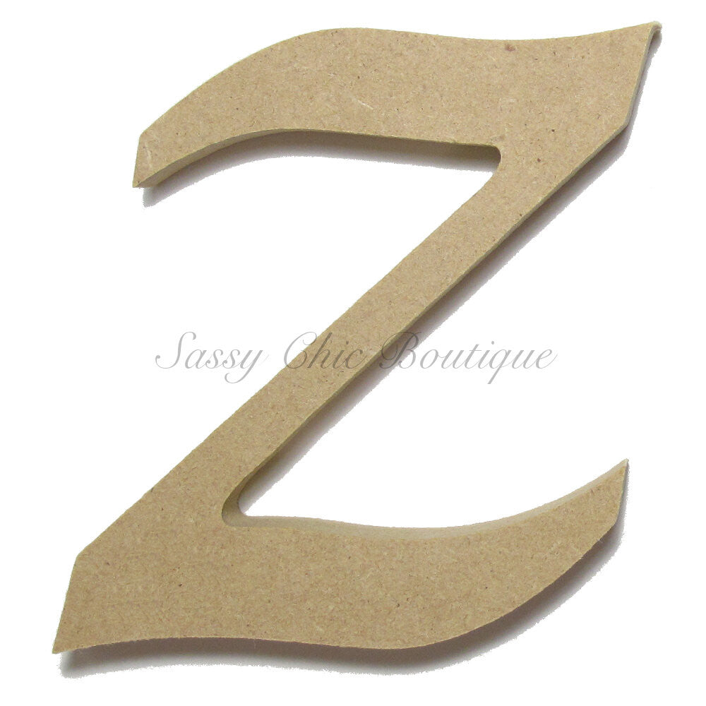 "DIY-Unfinished Wooden Letter - Lowercase ""z"" - Lucida Calligraphy Font-Sassy Chic Boutique"