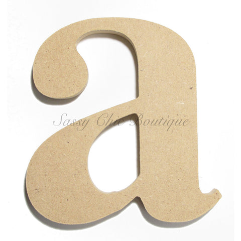 "Unfinished Wooden Letter - Lowercase ""a""- Times Font"