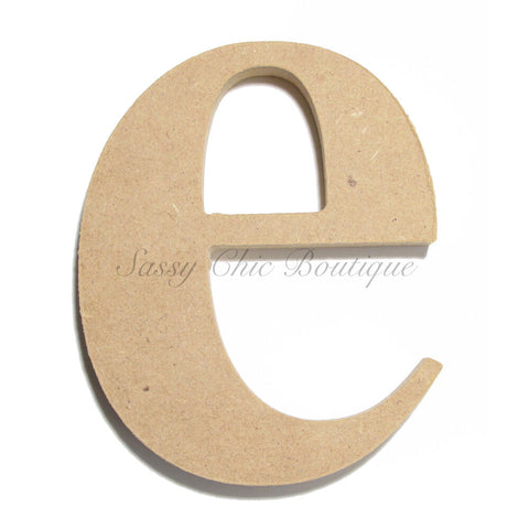 "Unfinished Wooden Letter - Lowercase ""e""- Times Font"