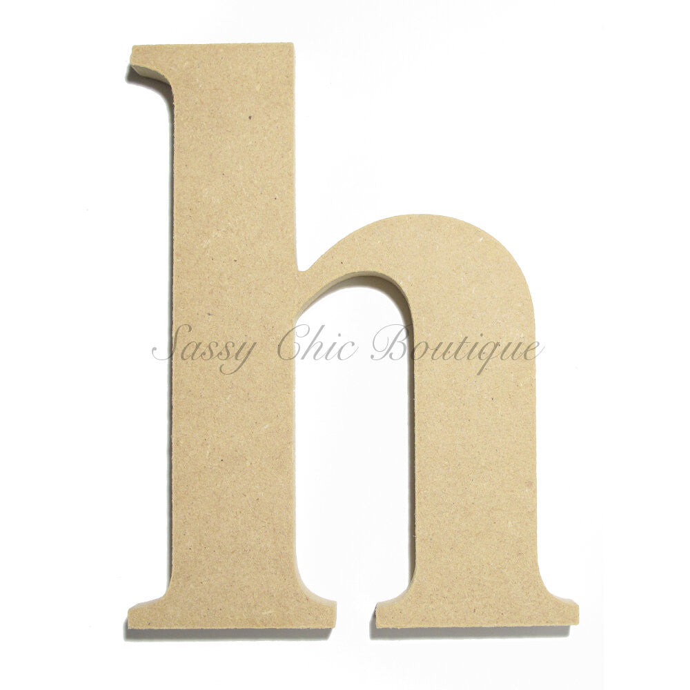 "DIY-Unfinished Wooden Letter - Lowercase ""h""- Times Font-Sassy Chic Boutique"