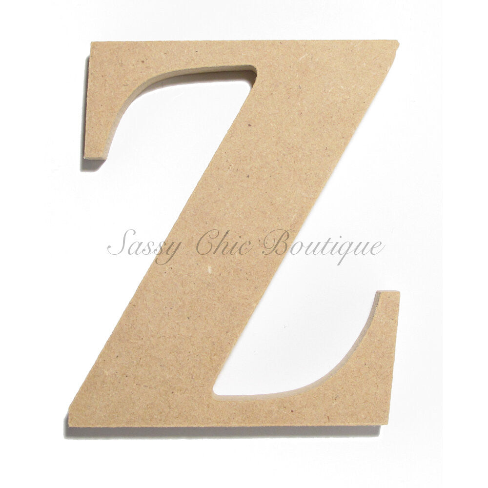 "DIY-Unfinished Wooden Letter - Lowercase ""z"" - Times Font-Sassy Chic Boutique"