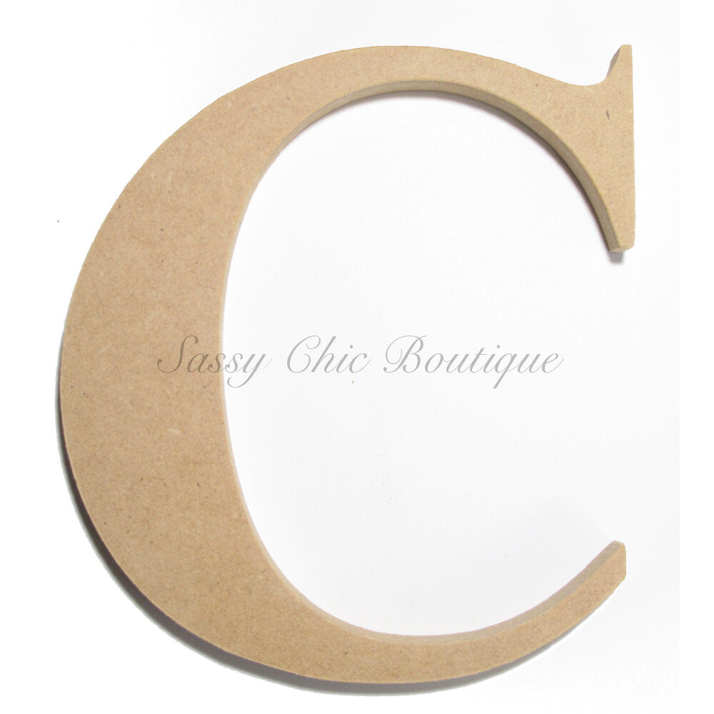 "DIY-Unfinished Wooden Letter - Uppercase ""C"" - Times Font-Sassy Chic Boutique"