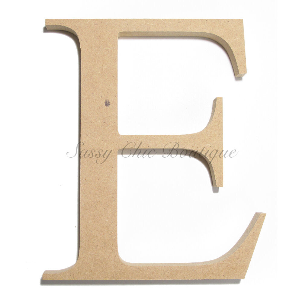 "DIY-Unfinished Wooden Letter - Uppercase ""E"" - Times Font-Sassy Chic Boutique"