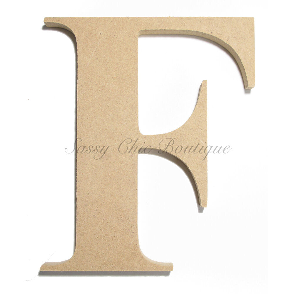 "DIY-Unfinished Wooden Letter - Uppercase ""F"" - Times Font-Sassy Chic Boutique"