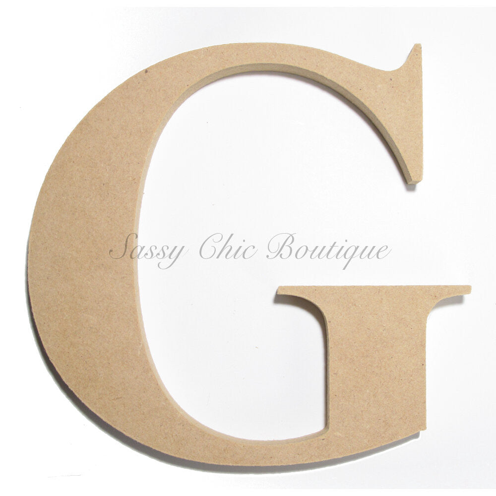 "DIY-Unfinished Wooden Letter - Uppercase ""G"" - Times Font-Sassy Chic Boutique"