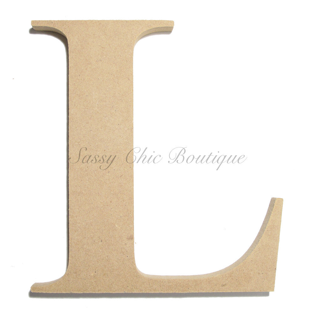 "DIY-Unfinished Wooden Letter - Uppercase ""L"" - Times Font-Sassy Chic Boutique"