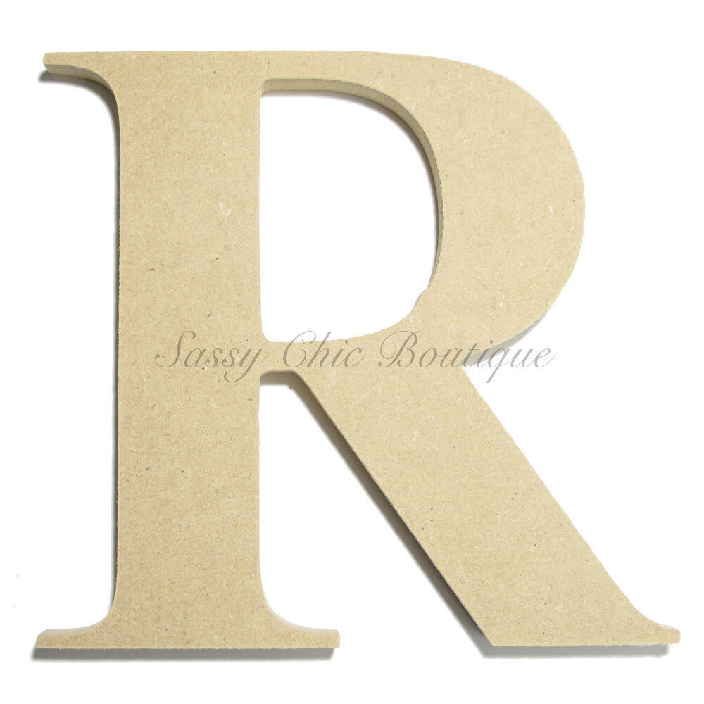 "DIY-Unfinished Wooden Letter - Uppercase ""R"" - Times Font-Sassy Chic Boutique"