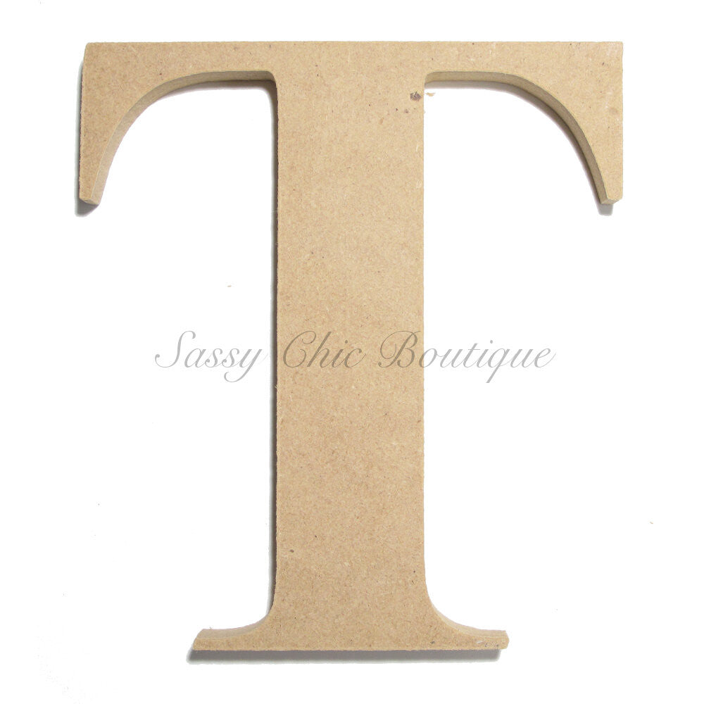 "DIY-Unfinished Wooden Letter - Uppercase ""T"" - Times Font-Sassy Chic Boutique"