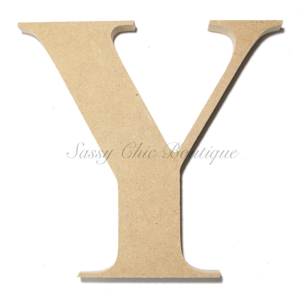 "DIY-Unfinished Wooden Letter - Uppercase ""Y"" - Times Font-Sassy Chic Boutique"