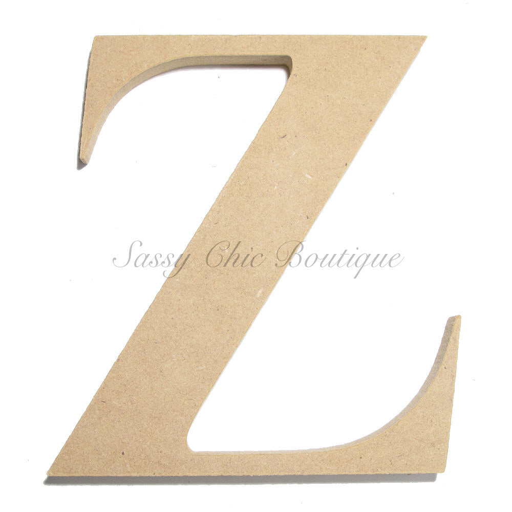 "DIY-Unfinished Wooden Letter - Uppercase ""Z"" - Times Font-Sassy Chic Boutique"