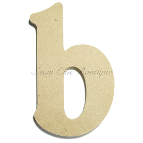 "Unfinished Wooden Letter - Lowercase ""b""- Victorian Font"