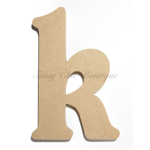 "Unfinished Wooden Letter - Lowercase ""k""- Victorian Font"