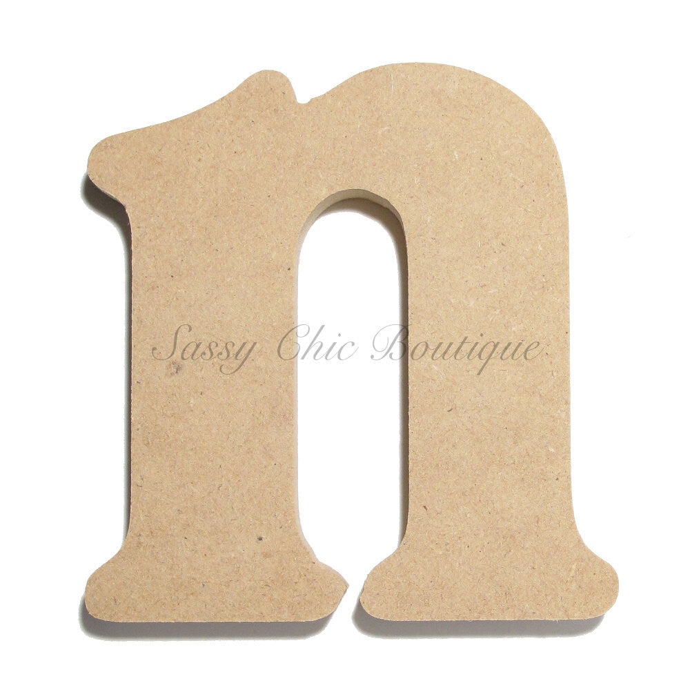 "DIY-Unfinished Wooden Letter - Lowercase ""n""- Victorian Font-Sassy Chic Boutique"