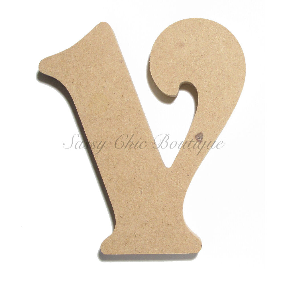 "DIY-Unfinished Wooden Letter - Lowercase ""v"" - Victorian Font-Sassy Chic Boutique"