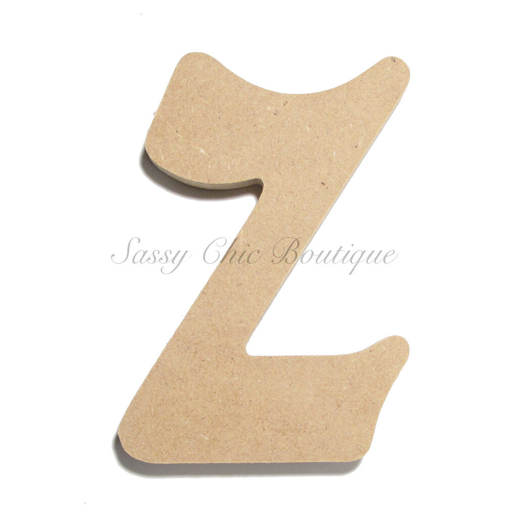 "DIY-Unfinished Wooden Letter - Lowercase ""z"" - Victorian Font-Sassy Chic Boutique"