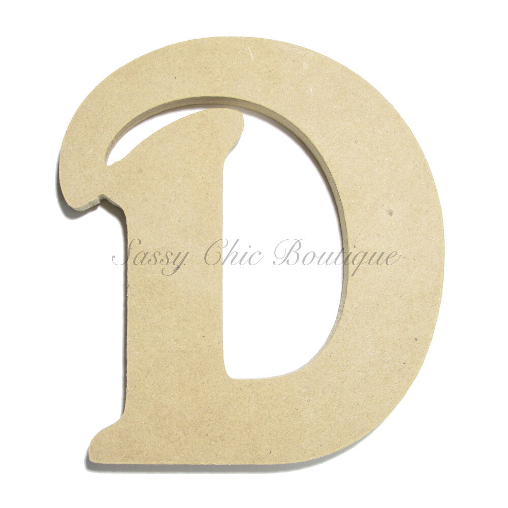 "DIY-Unfinished Wooden Letter - Uppercase ""D"" - Victorian Font-Sassy Chic Boutique"