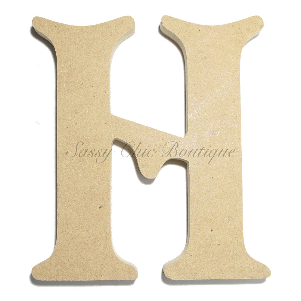 "DIY-Unfinished Wooden Letter - Uppercase ""H"" - Victorian Font-Sassy Chic Boutique"