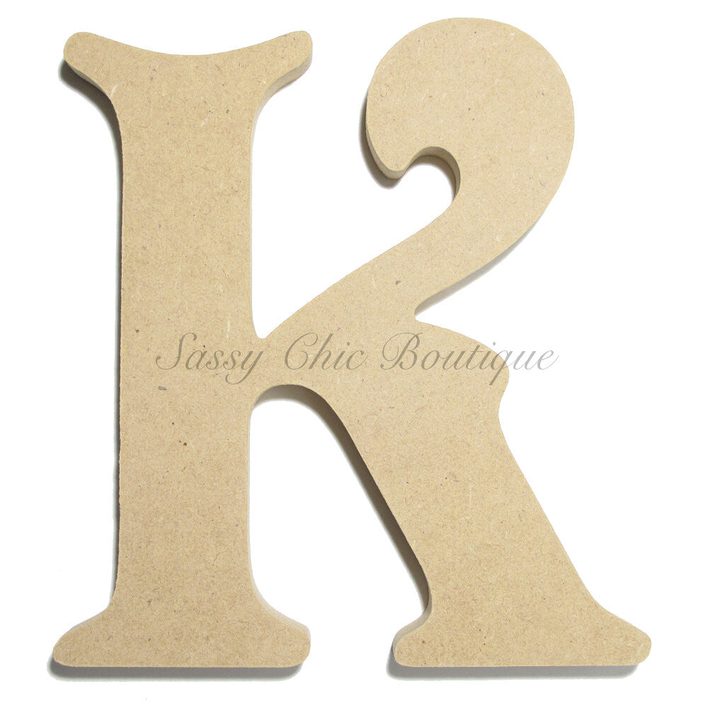 "DIY-Unfinished Wooden Letter - Uppercase ""K"" - Victorian Font-Sassy Chic Boutique"