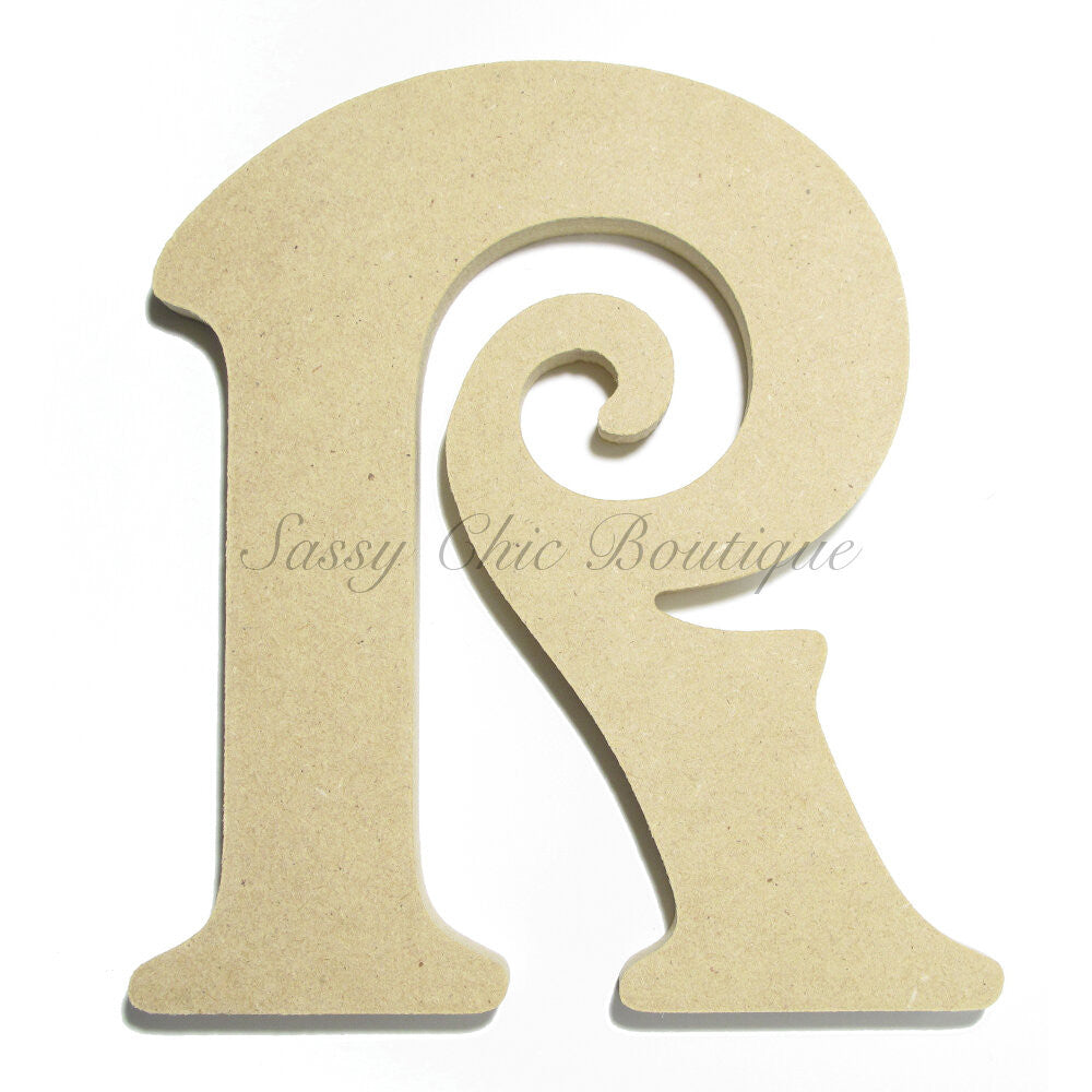 "DIY-Unfinished Wooden Letter - Uppercase ""R"" - Victorian Font-Sassy Chic Boutique"