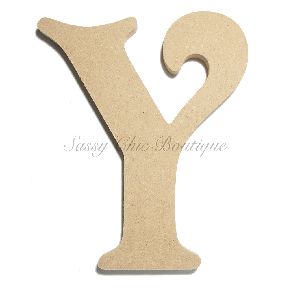 "DIY-Unfinished Wooden Letter - Uppercase ""Y"" - Victorian Font-Sassy Chic Boutique"