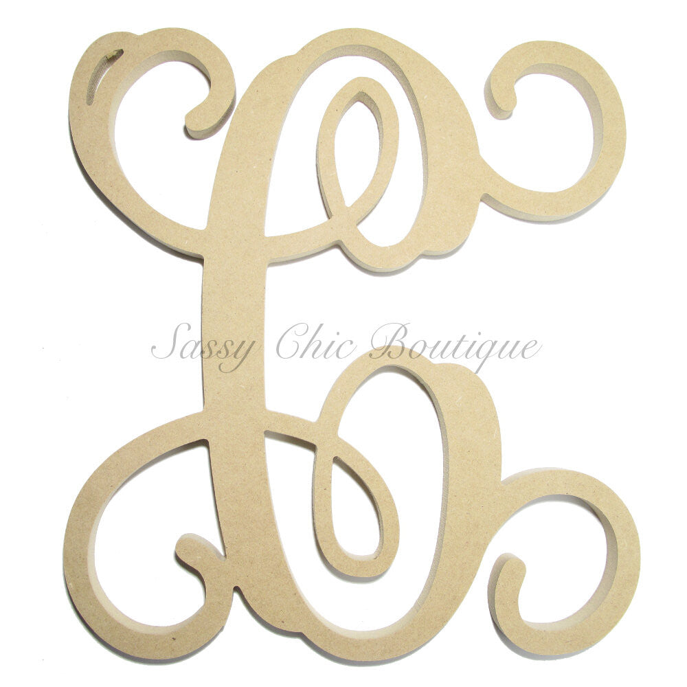 "DIY-Unfinished Single Wooden Monogram - Uppercase ""C"" - Vine Font-Sassy Chic Boutique"