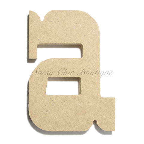 "Unfinished Wooden Letter - Lowercase ""a""- Western Font"