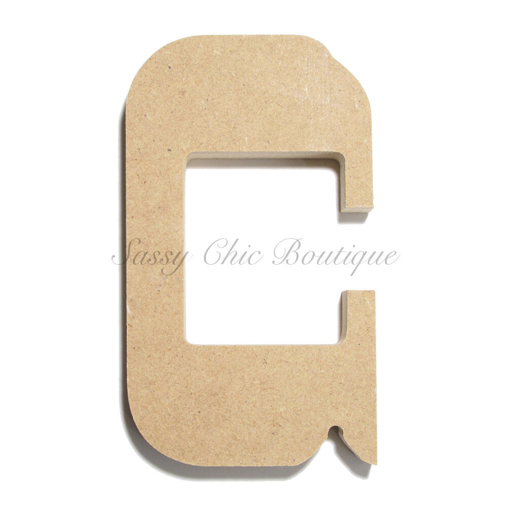 "DIY-Unfinished Wooden Letter - Lowercase ""c""- Western Font-Sassy Chic Boutique"