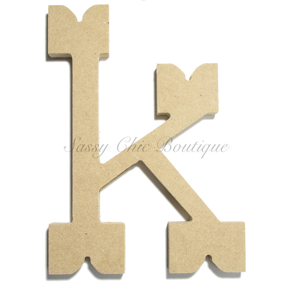 "DIY-Unfinished Wooden Letter - Lowercase ""k""- Western Font-Sassy Chic Boutique"