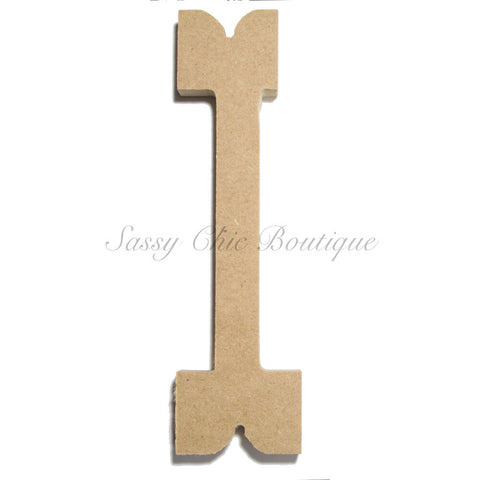 "Unfinished Wooden Letter - Lowercase ""l""- Western Font"