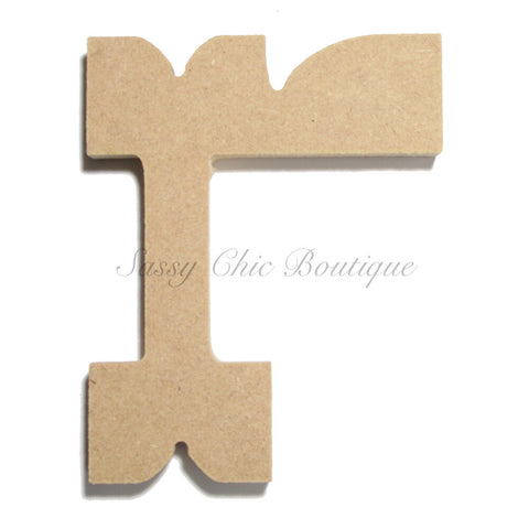 "Unfinished Wooden Letter - Lowercase ""r""- Western Font"