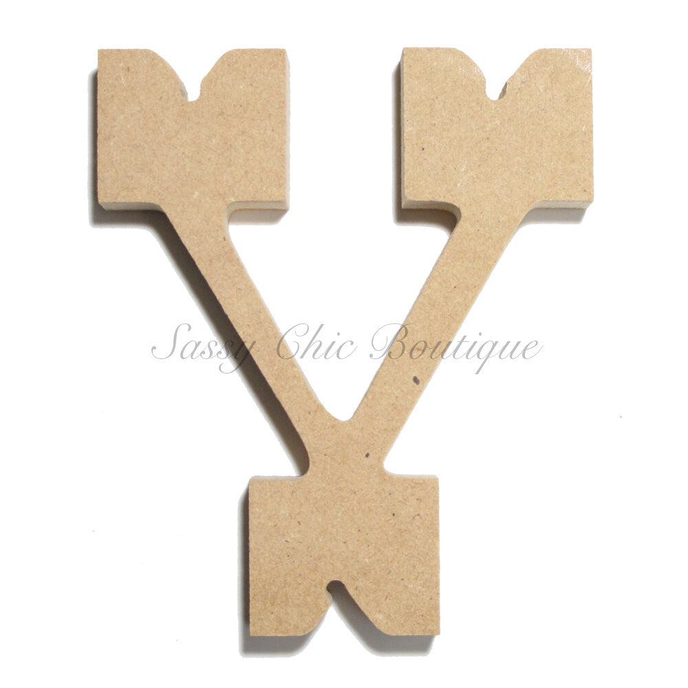 "DIY-Unfinished Wooden Letter - Lowercase ""v"" - Western Font-Sassy Chic Boutique"