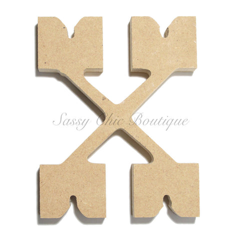 "Unfinished Wooden Letter - Lowercase ""x"" - Western Font"