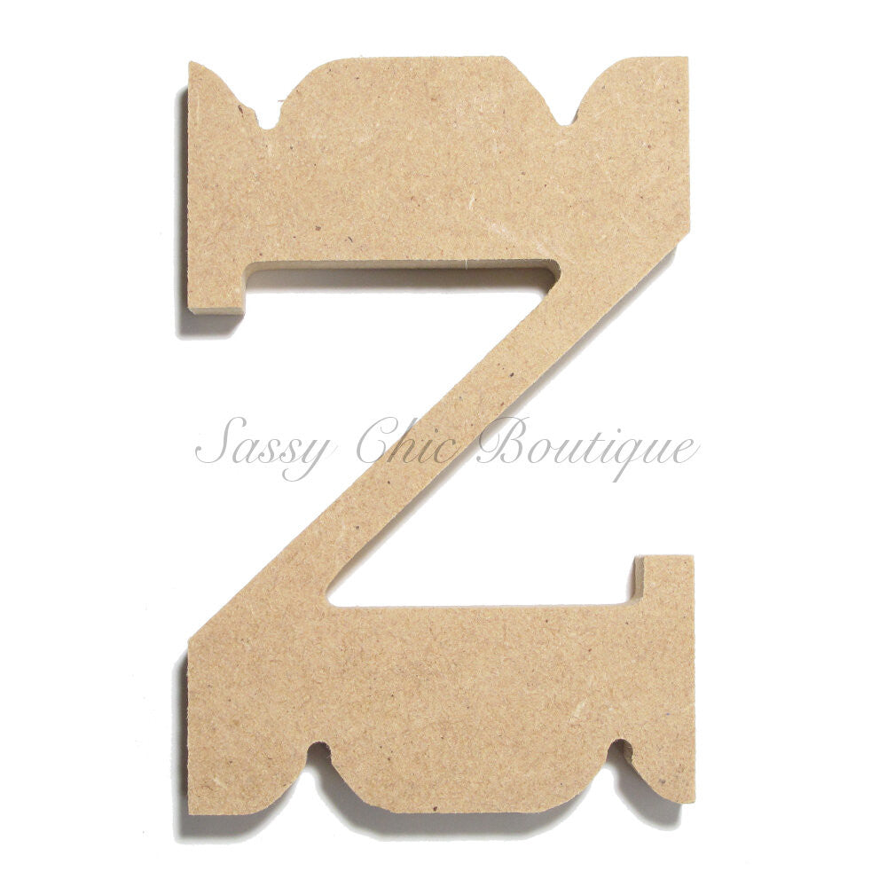 "DIY-Unfinished Wooden Letter - Lowercase ""z"" - Western Font-Sassy Chic Boutique"