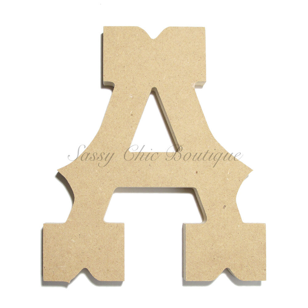 "DIY-Unfinished Wooden Letter - Uppercase ""A"" - Western Font-Sassy Chic Boutique"