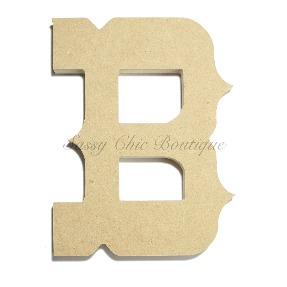 "DIY-Unfinished Wooden Letter - Uppercase ""B"" - Western Font-Sassy Chic Boutique"