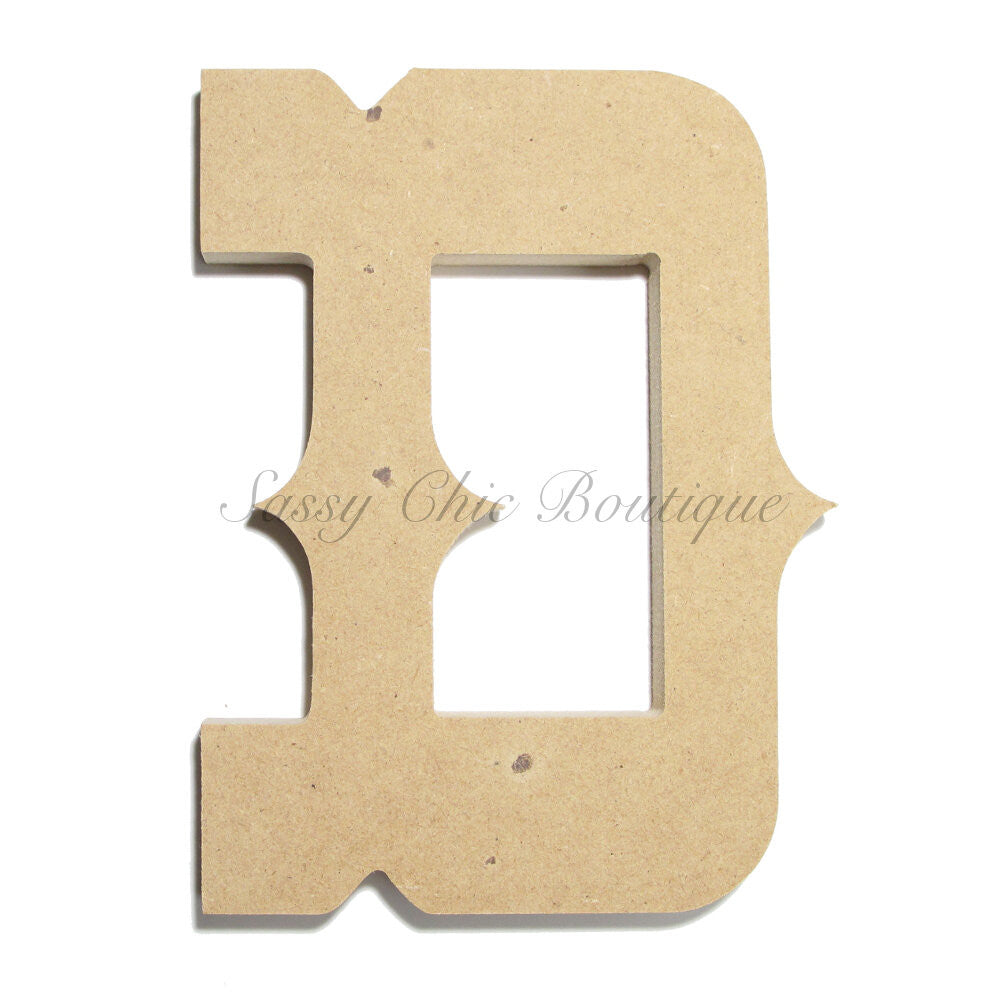 "DIY-Unfinished Wooden Letter - Uppercase ""D"" - Western Font-Sassy Chic Boutique"