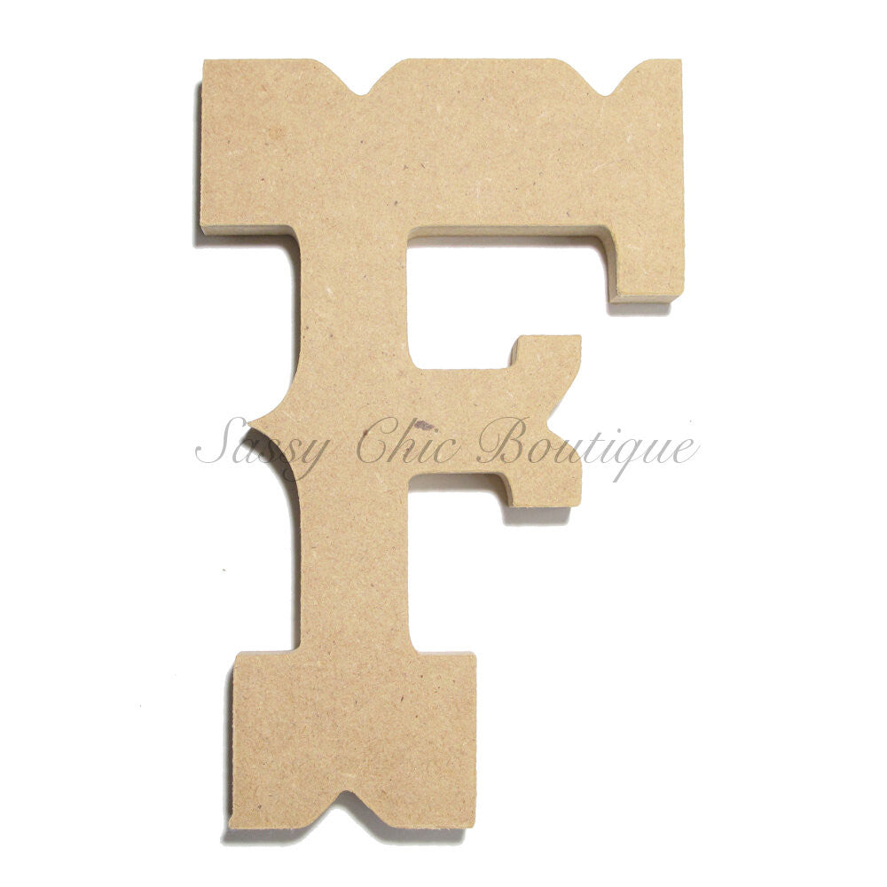 "DIY-Unfinished Wooden Letter - Uppercase ""F"" - Western Font-Sassy Chic Boutique"