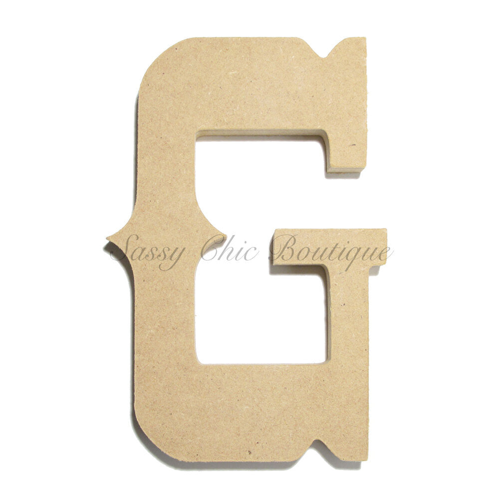 "DIY-Unfinished Wooden Letter - Uppercase ""G"" - Western Font-Sassy Chic Boutique"