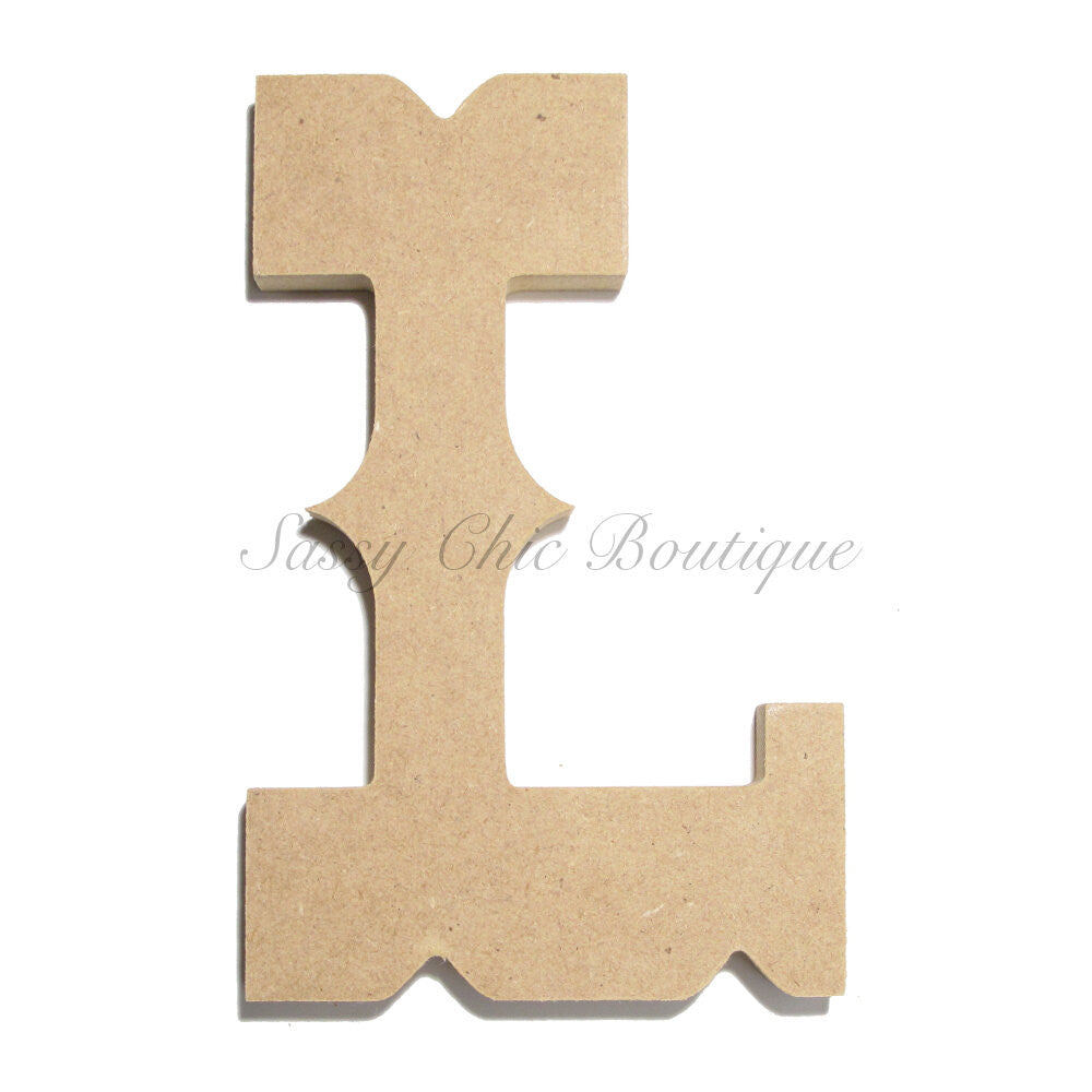 "DIY-Unfinished Wooden Letter - Uppercase ""L"" - Western Font-Sassy Chic Boutique"