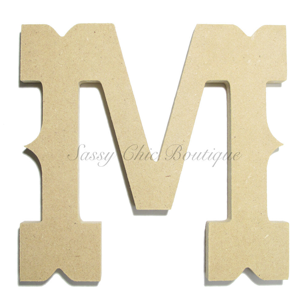 "DIY-Unfinished Wooden Letter - Uppercase ""M"" - Western Font-Sassy Chic Boutique"