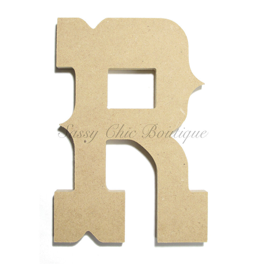 "DIY-Unfinished Wooden Letter - Uppercase ""R"" - Western Font-Sassy Chic Boutique"
