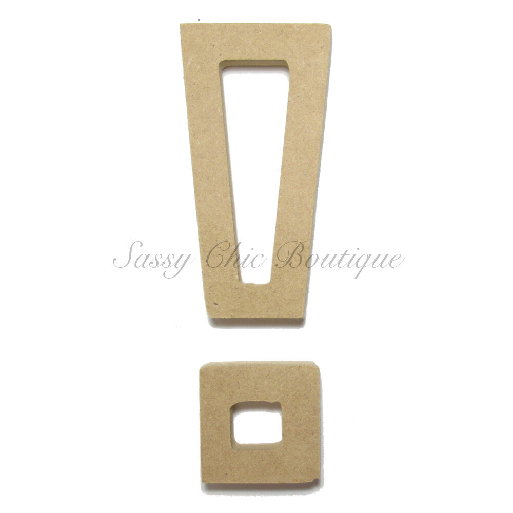 "DIY-Unfinished Wooden Symbol -  ""!"" Exclamation Point - All Star Font-Sassy Chic Boutique"